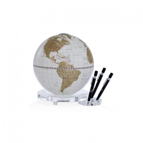 Glob de masa Zoffoli Balance alb/auriu cu suport pentru pix