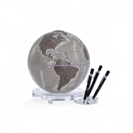 Glob de masa Zoffoli Balance warm grey cu suport pentru pix