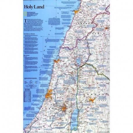Harta regionala Ţara Sfântă National Geographic