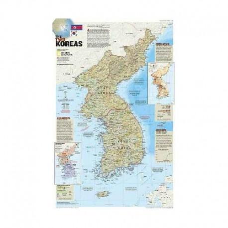 Harta Corea - războiul uitat - faţă-verso National Geographic