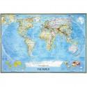 Harta politica a lumii clasica, mare National Geographic