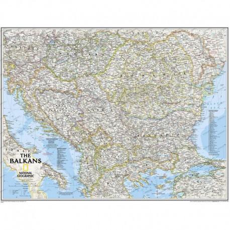 Harta regională Balcani National Geographic
