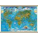 Harta lumii pentru copii (1400x1000 mm)