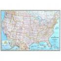 Harta politica SUA, laminata National Geographic