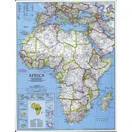 Harta politică a Africii, mare National Geographic