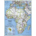 Harta politica a Africii, mare National Geographic