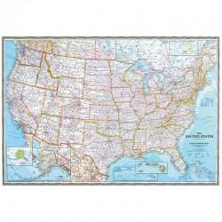 Harta politică SUA National Geographic
