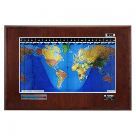 Boardroom Modell din lemn de mahon şi cadru de culoare argintie Geochron