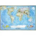 Harta politica a lumii clasica National Geographic
