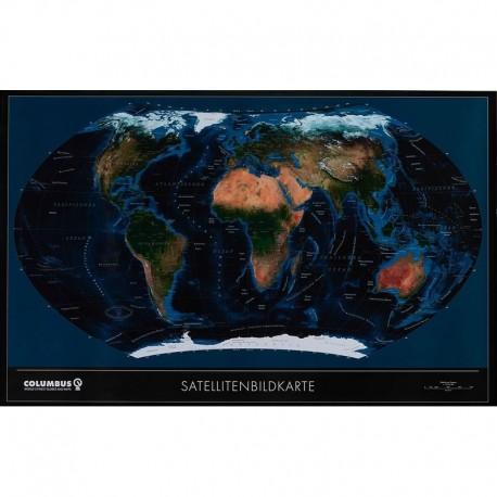 Harta lumii politică/fizică TWKGF2520BL Columbus