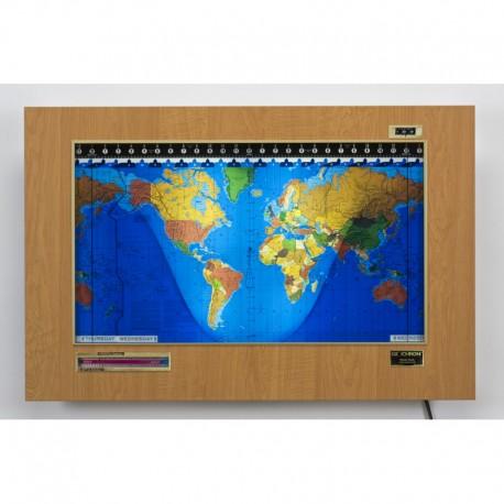 Geochron Original Kilburg din plastic Russian Mapple şi cadru auriu
