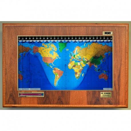 Boardroom Modell din lemn de hicori şi cadru auriu Geochron