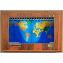Geochron Boardroom Modell din lemn de hicori si cadru auriu