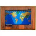 Geochron Boardroom Modell din lemn de stejar si cadru de culoare neagra