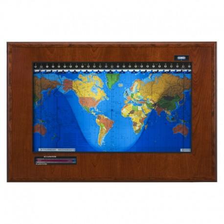 Boardroom Modell din lemn de cireş şi cadru de culoare neagră Geochron