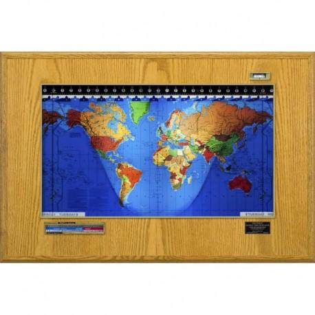 Boardroom Modell din lemn de stejar şi cadru auriu Geochron