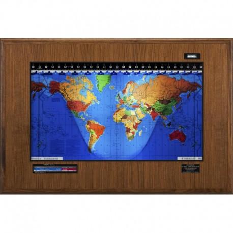 Geochron Boardroom Modell din lemn de nuc şi cadru de culoare neagră