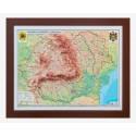 Romania si Rep. Moldova Harta fizica si administrativa 3D( 600X470 mm)