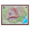 Romania si Rep. Moldova. Harta fizica, administrativa si a substantelor minerale utile 3D 1400x1000mm