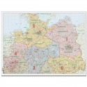 Harta codurilor postale Germania de Nord 1:500.000 Bacher Verlag