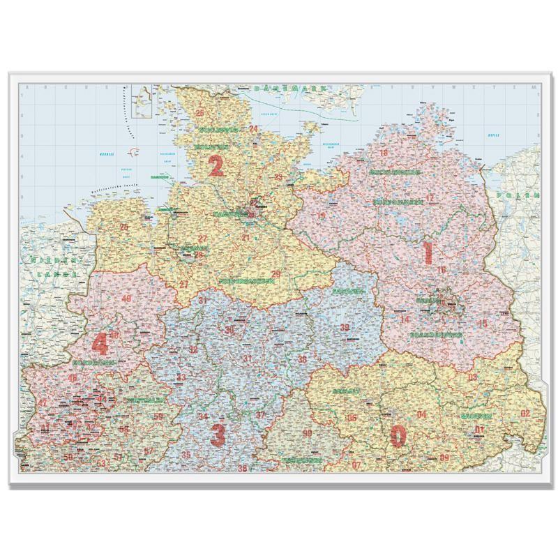 Harta Codurilor Postale Germania De Nord 1 500 000 Bacher Verlag