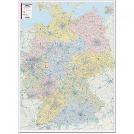 Harta codurilor poştale Germania 1:450.000 Bacher Verlag