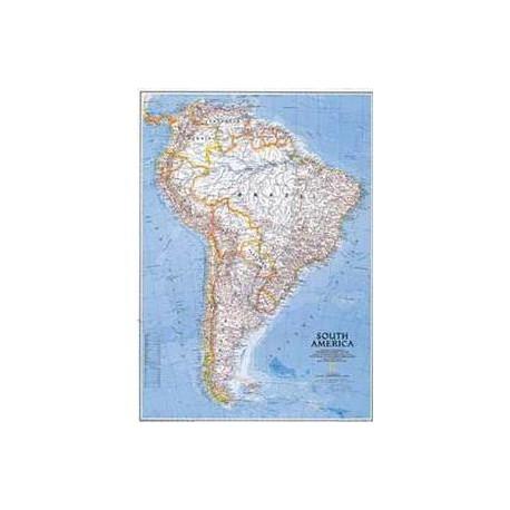Harta politică America de Sud National Geographic