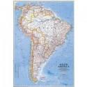 Harta politica America de Sud National Geographic