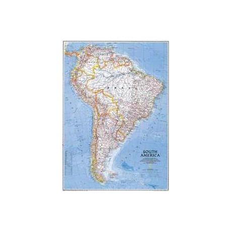 Harta politică America de Nord, mare National Geographic