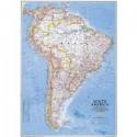 Harta politica America de Sud, mare National Geographic