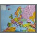 Harta politica continentala a Europei in relief GEO Institute (in germana)