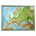 Georelief Harta magnetica European relief map, large, 3D, with wooden frame