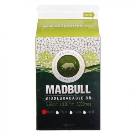 Bile Airsoft MadBull Pla Bio 0.20g 3000 buc