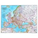 Harta politica a Europei, mare laminata National Geographic