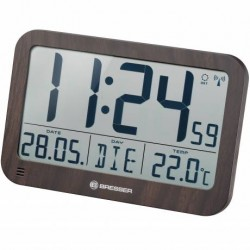 Ceas BRESSER MyTime MC LCD design lemn 225x150mm
