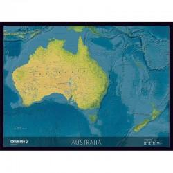 Hartă continentală Australia Columbus