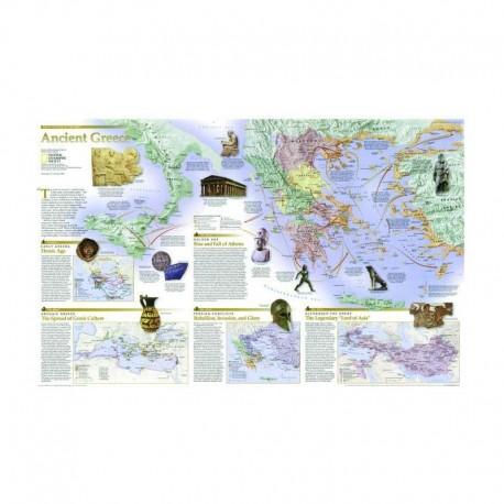 Hartă Grecia - faţă - verso National Geographic