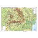 Romania. Harta fizico-geografica si a resurselor naturale de subsol 100x70 cm