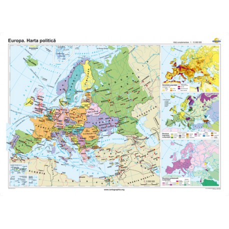 Europa. Harta politică 140x100 cm
