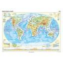 Harta fizica a lumii 100x70 cm