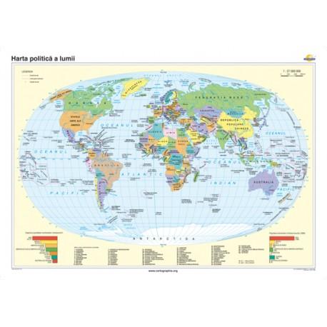 Harta politică a lumii 100x70 cm