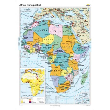 Africa. Harta politică 70x100 cm