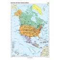 America de Nord. Harta politica 100x140 cm