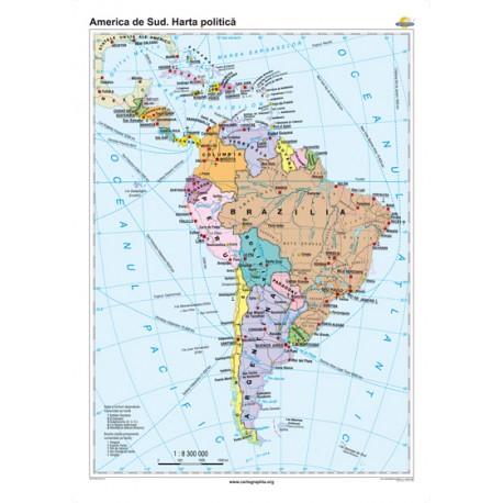 America de Sud. Harta politică