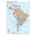 America de Sud. Harta politica 100x140 cm