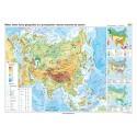 Asia. Harta fizico-geografică şi a principalelor resurse naturale de subsol 100X70 CM