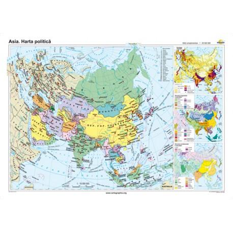 Asia. Harta politică 160x120 cm