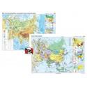 Asia. Harta fizico-geografica si a principalelor resurse naturale de subsol si Asia. Harta politica – Duo Plus