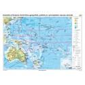 Australia şi Oceania. Harta fizico-geografică, politică şi a principalelor resurse naturale 140x100 cm