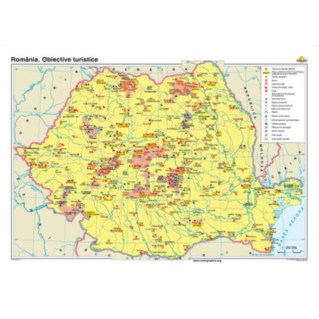 România. Obiective turistice 160x120 cm